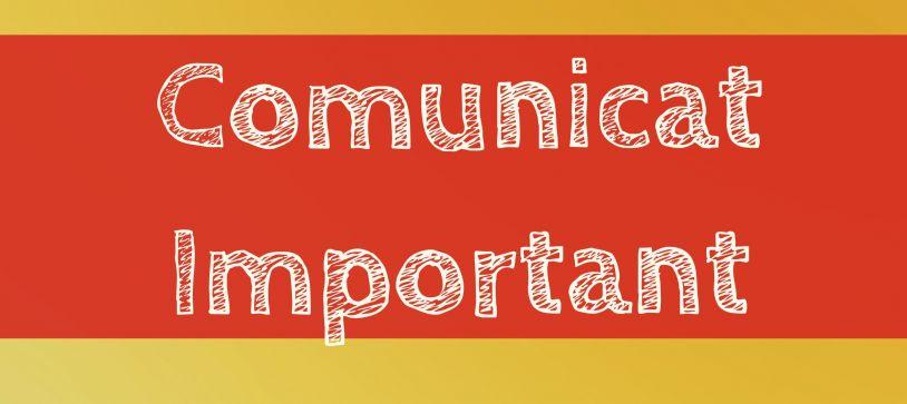 COMUNICAT: Informare cu privire la potențiale tentative de fraudă în Italia