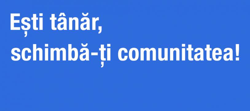 """Workshop """"Ești tânăr, schimbă-ți comunitatea!"""" Invitat special: Mihai Sturzu"""
